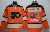 Philadelphia Flyers #93 Jakub Voracek Orange Alternate USA Flag Fashion Stitched NHL Jersey
