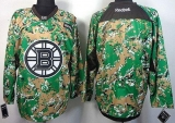 Boston Bruins Blank Camo Veterans Day Practice Stitched NHL Jersey