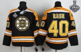 Boston Bruins Stanley Cup Finals Patch #40 Tuukka Rask Black Home Stitched NHL Jersey
