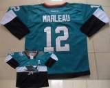 San Jose Sharks #12 Patrick Marleau Teal Black 2015 Stadium Series Stitched NHL Jersey