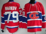 Montreal Canadiens #79 Andrei Markov Stitched Red New CA NHL Jersey