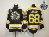 Boston Bruins Stanley Cup Finals Patch #68 Jaromir Jagr Black Home Stitched NHL Jersey
