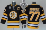 Boston Bruins Stanley Cup Finals Patch #77 Ray Bourque Black CCM Throwback Stitched NHL Jersey