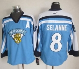 Winnipeg Jets #8 Teemu Selanne Light Blue Nike Throwback Stitched NHL Jersey