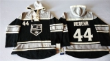 Los Angeles Kings #44 Robyn Regehr Black Sawyer Hooded Sweatshirt Stitched NHL Jersey