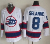 Winnipeg Jets #8 Teemu Selanne White CCM Throwback Stitched NHL Jersey