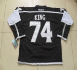 Los Angeles Kings #74 Dwight King Black Home Stitched NHL Jersey