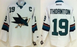 San Jose Sharks #19 Joe Thornton Stitched White NHL Jersey