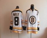 CCM Throwback Boston Bruins #8 Cam Neely White Stitched NHL Jersey