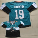 San Jose Sharks #19 Joe Thornton Teal Black 2015 Stadium Series Stitched NHL Jersey