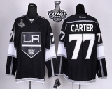 Los Angeles Kings #77 Jeff Carter Black Home 2014 Stanley Cup Finals Stitched NHL Jersey