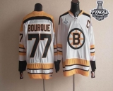 CCM Throwback Boston Bruins Stanley Cup Finals Patch #77 Ray Bourque White Stitched NHL Jersey