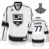 Los Angeles Kings #77 Jeff Carter White Road 2014 Stanley Cup Champions Stitched NHL Jersey