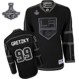 Los Angeles Kings #99 Wayne Gretzky Black Ice 2014 Stanley Cup Champions Stitched NHL Jersey