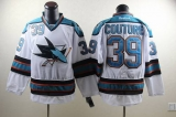 San Jose Sharks #39 Logan Couture White Stitched NHL Jersey
