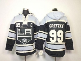 Los Angeles Kings #99 Wayne Gretzky Black Sawyer Hooded Sweatshirt Stitched NHL Jersey