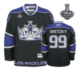 Los Angeles Kings #99 Wayne Gretzky Black Third 2014 Stanley Cup Finals Stitched NHL Jersey