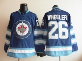 Winnipeg Jets #26 Black Wheeler Dark Blue 2011 Style Stitched NHL Jersey