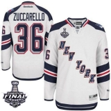 New York Rangers #36 Mats Zuccarello White 2014 Stadium Series With Stanley Cup Finals Stitched NHL Jersey
