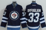 Winnipeg Jets #33 Dustin Byfuglien Stitched Dark Blue 2011 Style NHL Jersey