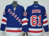 New York Rangers #61 Rick Nash Blue Home Stitched NHL Jersey