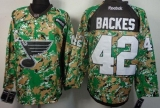 St Louis Blues #42 David Backes Camo Veterans Day Practice Stitched NHL Jersey