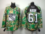 New York Rangers #61 Rick Nash Camo Veterans Day Practice Stitched NHL Jersey