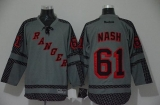 New York Rangers #61 Rick Nash Charcoal Cross Check Fashion Stitched NHL Jersey