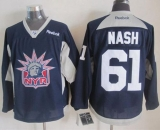 New York Rangers #61 Rick Nash Navy Blue Statue of Liberty Practice Stitched NHL Jersey