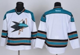 San Jose Sharks Blank Stitched White NHL Jersey