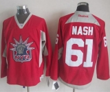 New York Rangers #61 Rick Nash Red Statue of Liberty Practice Stitched NHL Jersey