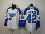 St Louis Blues #42 David Backes White Stitched NHL Jersey