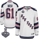 New York Rangers #61 Rick Nash White 2014 Stadium Series With Stanley Cup Finals Stitched NHL Jersey