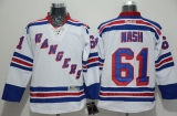 New York Rangers #61 Rick Nash White Road Stitched NHL Jersey