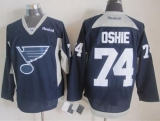 St Louis Blues #74 T J Oshie Navy Blue Practice Stitched NHL Jersey