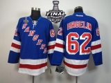 New York Rangers #62 Carl Hagelin Blue Home With 2014 Stanley Cup Finals Stitched NHL Jersey
