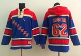 New York Rangers #62 Carl Hagelin Blue Sawyer Hooded Sweatshirt Stitched NHL Jersey