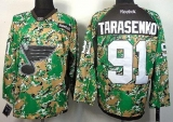 St Louis Blues #91 Vladimir Tarasenko Camo Veterans Day Practice Stitched NHL Jersey