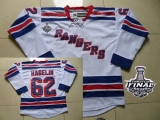 New York Rangers #62 Carl Hagelin White Road With 2014 Stanley Cup Finals Stitched NHL Jersey