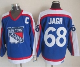 New York Rangers #68 Jaromir Jagr Blue White CCM Throwback Stitched NHL Jersey