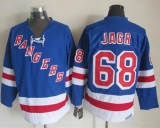 New York Rangers #68 Jaromir Jagr Light Blue CCM Throwback Stitched NHL Jersey