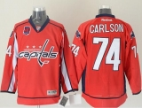 Washington Capitals #74 John Carlson Red 40th Anniversary Stitched NHL Jersey