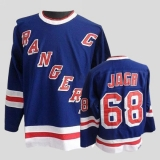 New York Rangers #68 Jaromir Jagr Stitched Blue CCM Throwback NHL Jersey