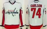 Washington Capitals #74 John Carlson White Stitched NHL Jersey