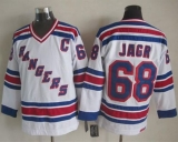 New York Rangers #68 Jaromir Jagr White CCM Throwback Stitched NHL Jersey
