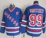 New York Rangers #99 Wayne Gretzky Blue CCM Heroes of Hockey Alumni Stitched NHL Jersey