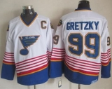 St Louis Blues #99 Wayne Gretzky White CCM Throwback Stitched NHL Jersey