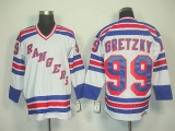 New York Rangers #99 Wayne Gretzky White CCM Road Stitched NHL Jersey