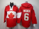 Olympic CA 6 Shea Weber Red Sawyer Hooded Sweatshirt Stitched NHL Jersey