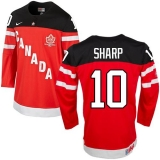 Olympic CA 10 Patrick Sharp Red 100th Anniversary Stitched NHL Jersey